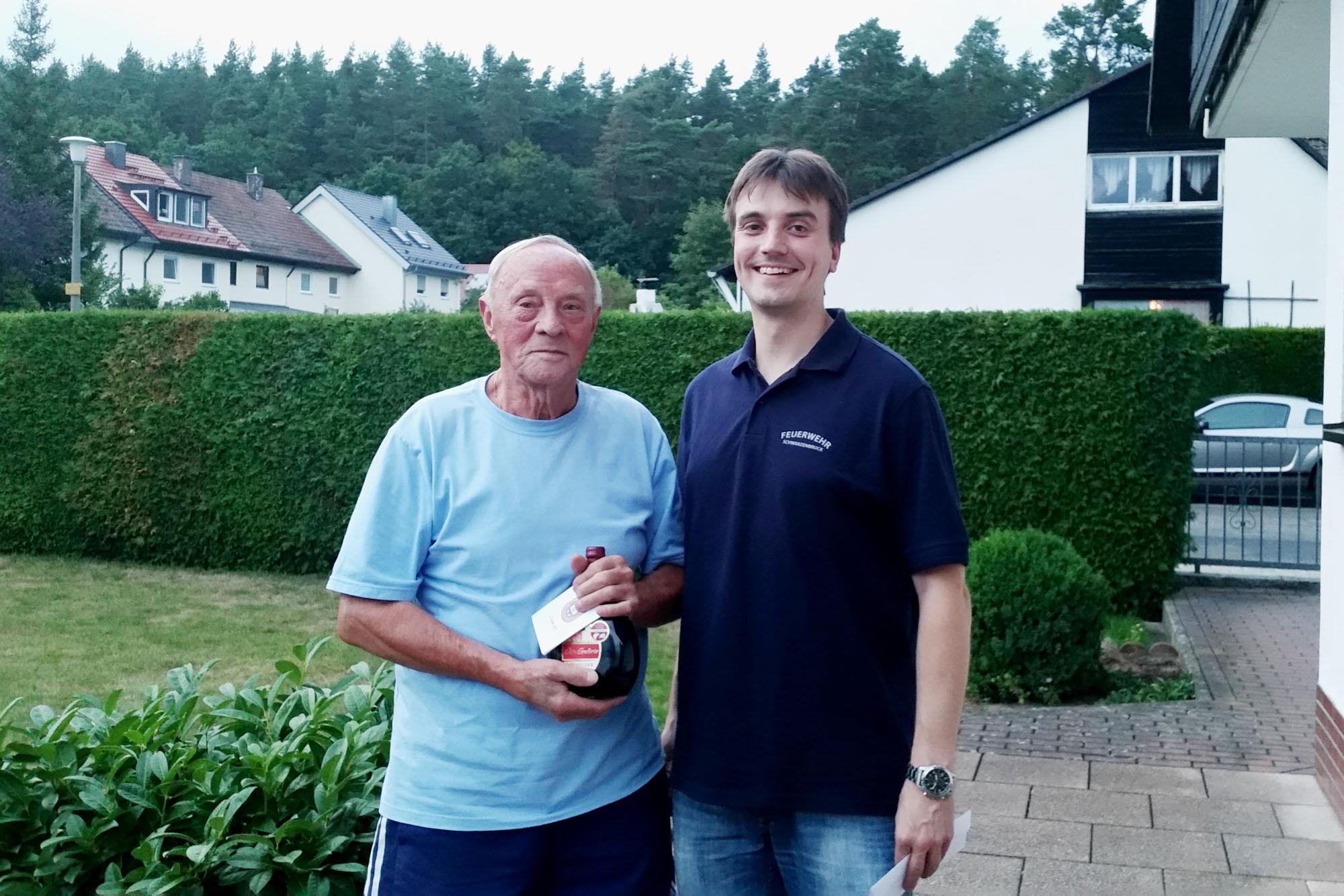 Werner Hemmer mit 1. Vorsitzenden Wolfgang Söder