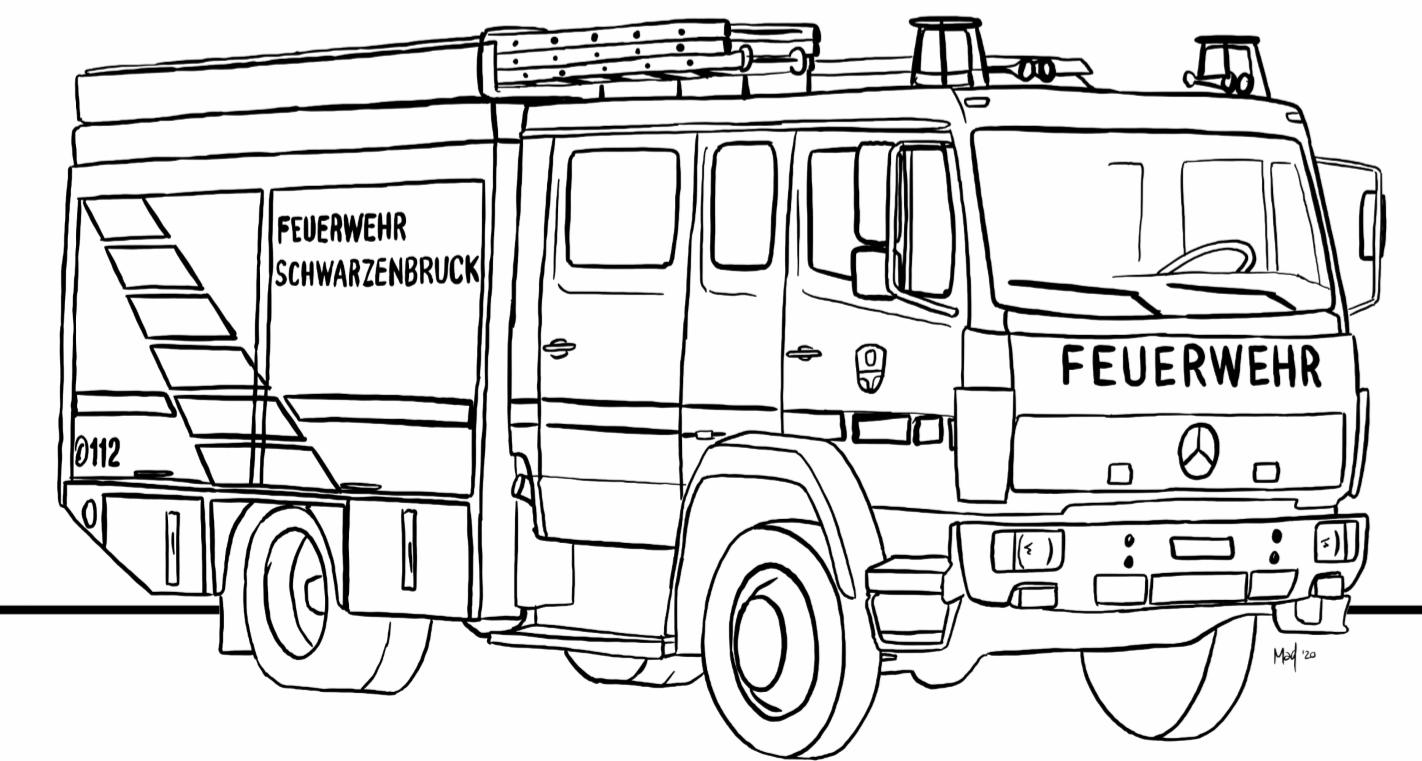 ausmalbilder feuerwehr  malvorlage feuerwehr